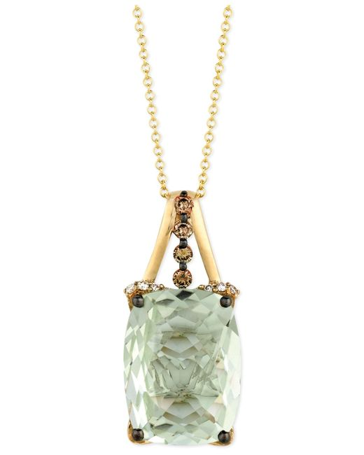 Le Vian | Green Chocolate Diamond (1/4 Ct. T.w.) And White Diamond Accent Pendant Necklace In 14k Gold | Lyst