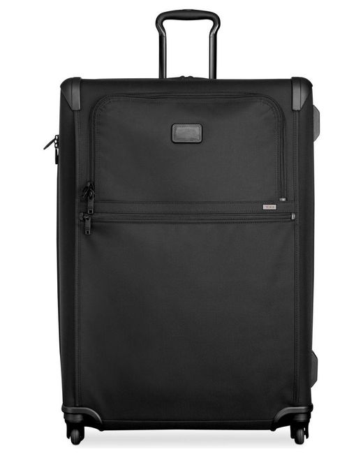 "Tumi | Black Alpha 2 31"" Extended Trip Expandable Spinner Suitcase for Men 