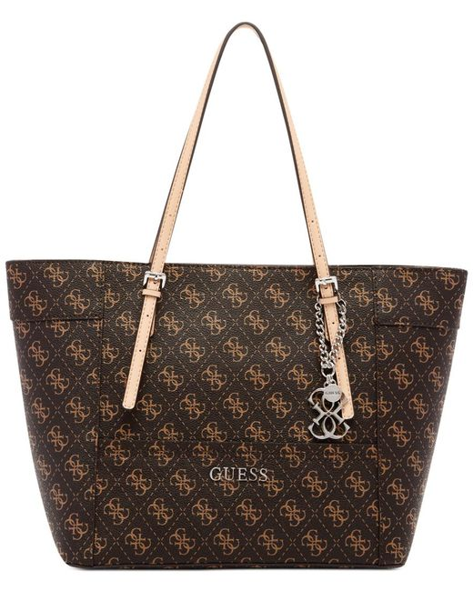 Guess | Brown Delaney Signature Small Classic Tote | Lyst