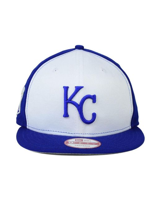 newest ad29a 55344 ... cheap ktz white kansas city royals 2 tone link 9fifty snapback cap for  men lyst 33db0