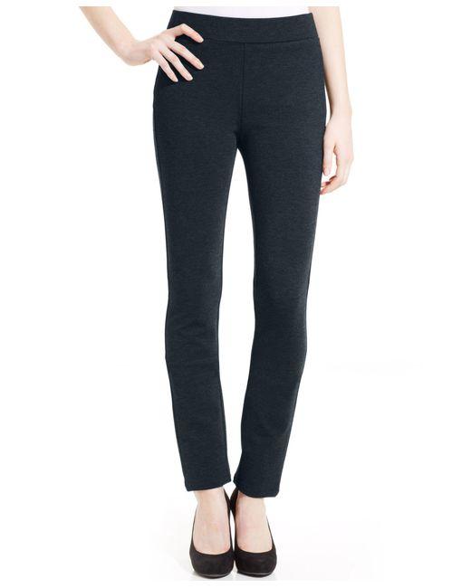 NYDJ | Black Jody Straight-leg Ponte-knit Pull-on Pants | Lyst