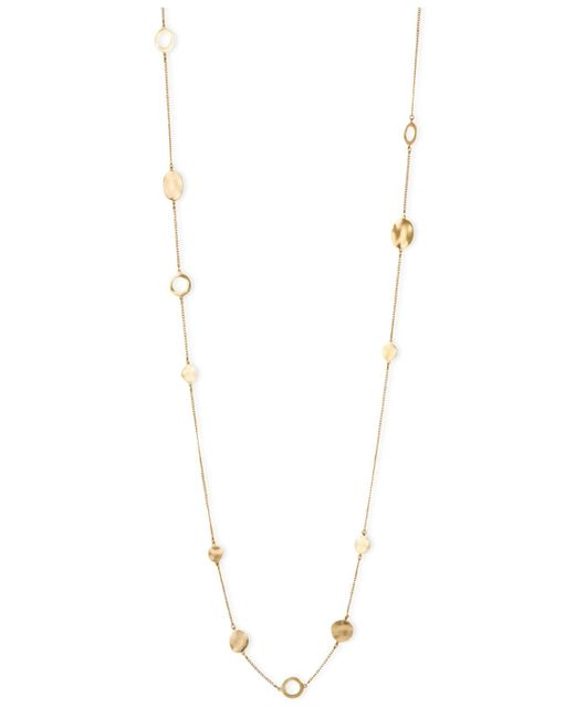 Kenneth Cole - Metallic Necklace, Gold-tone Circular Station Long Necklace - Lyst