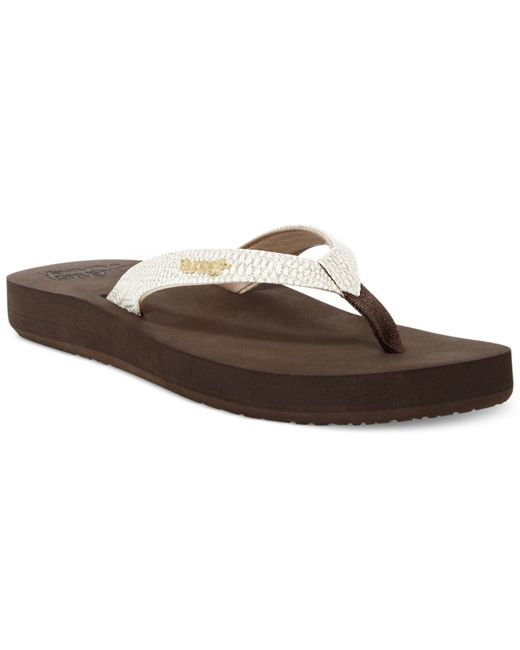 Reef | Brown Star Cushion Sassy Flip Flops | Lyst