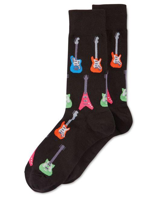 hot sox electric guitar crew socks in black lyst. Black Bedroom Furniture Sets. Home Design Ideas