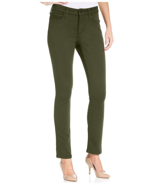 NYDJ | Green Alina Colored Skinny Jeggings | Lyst