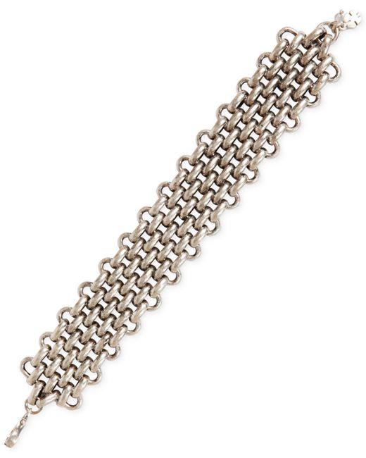 Lucky Brand | Metallic Silver-tone Chunky Chain Bracelet | Lyst
