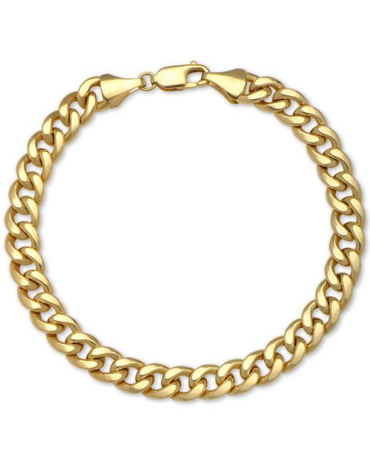 Macy's - Metallic Cuban Chain Bracelet In 14k Gold - Lyst
