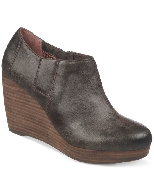 Dr. Scholls | Brown Harlie Platform Wedge Shooties | Lyst