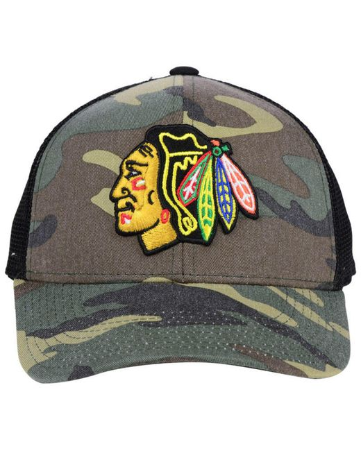 2ab54798 ... netherlands adidas multicolor chicago blackhawks camo trucker cap for men  lyst c38aa 52167