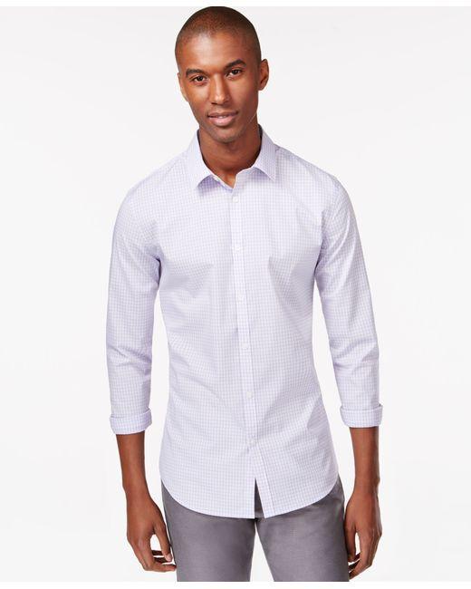 Calvin Klein | Purple Men's Infinite Cool Non-iron Slim-fit Shirt for Men | Lyst