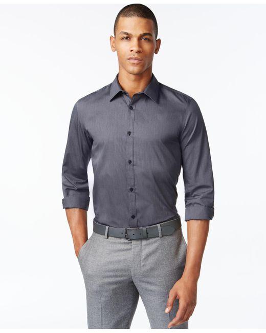 Calvin Klein | Black Men's Infinite Cool No-iron Shirt for Men | Lyst