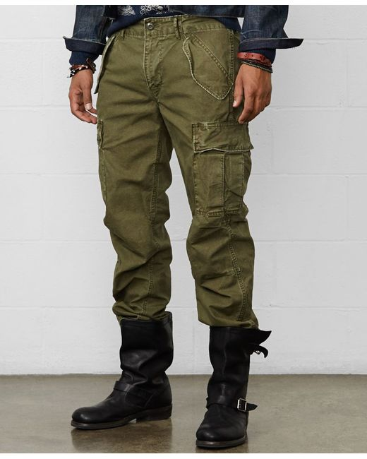 Denim & Supply Ralph Lauren | Green Field Cotton Cargo Pants for Men | Lyst