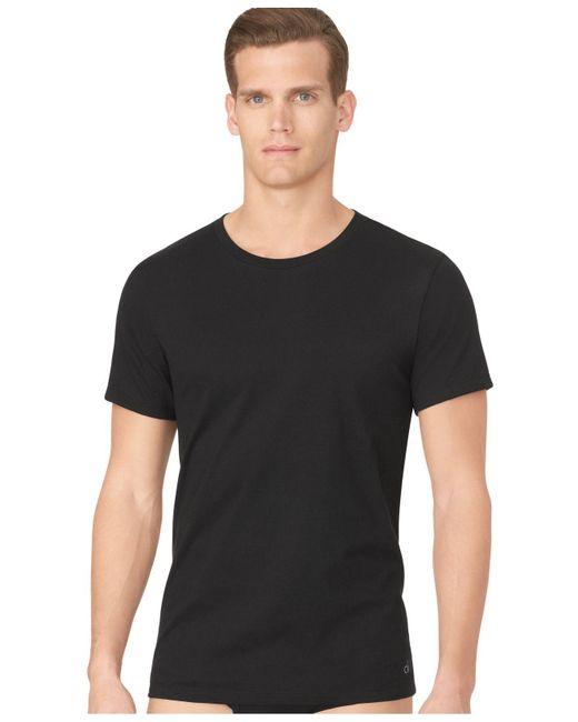 Calvin Klein | Black Men's Classic Crew-neck T-shirt 3-pack for Men | Lyst