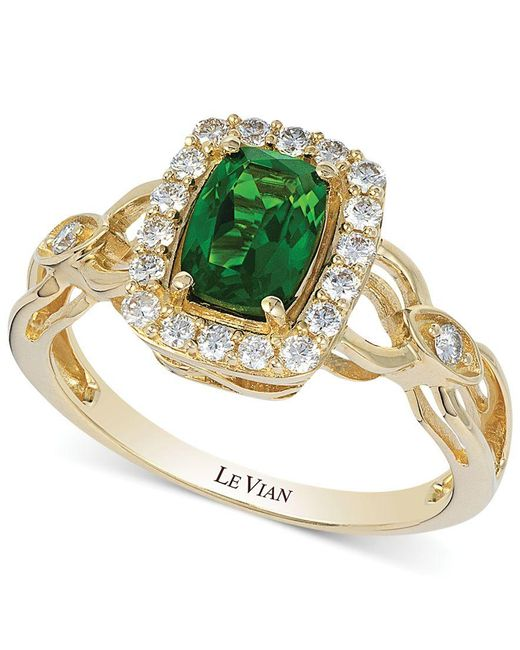 Le Vian | Metallic Chrome Diopside (3/4 Ct. T.w.) And Diamond (1/3 Ct. T.w.) Ring | Lyst