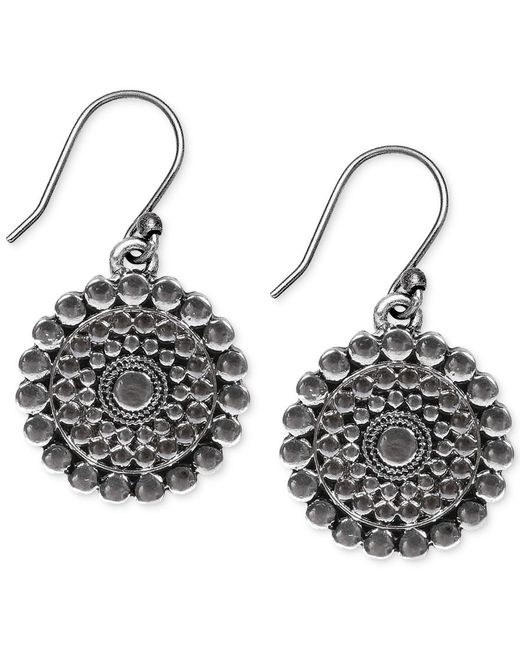 Lucky brand drop earrings in metallic save 28 lyst for Macy s lucky brand jewelry