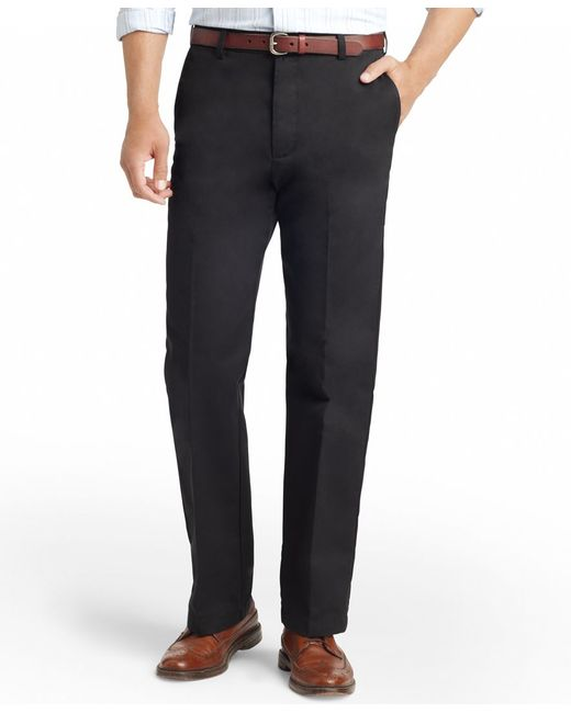 Izod | Black American Straight-fit Flat Front Wrinkle-free Chino Pants for Men | Lyst