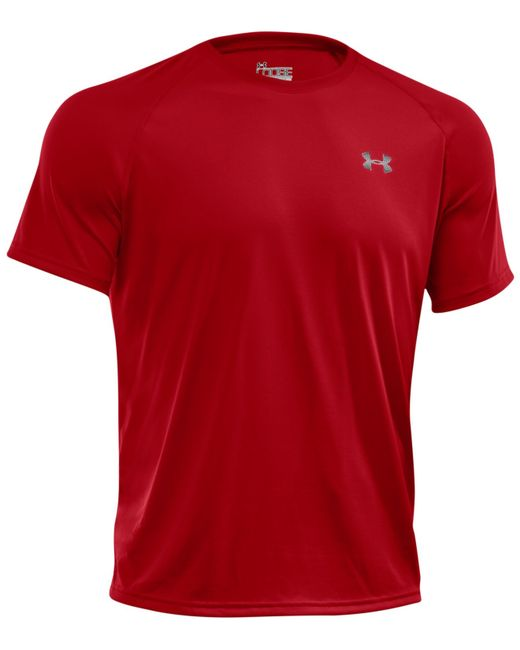 Under Armour | Red Men's Tech T-shirt for Men | Lyst