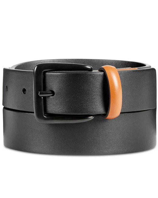 Original Penguin - Black Men's Leather Color-tab Belt for Men - Lyst