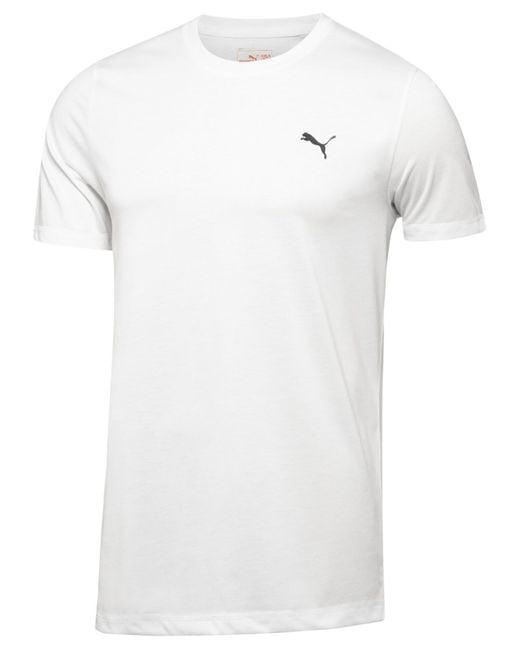 PUMA   White Men's Essential T-shirt for Men   Lyst