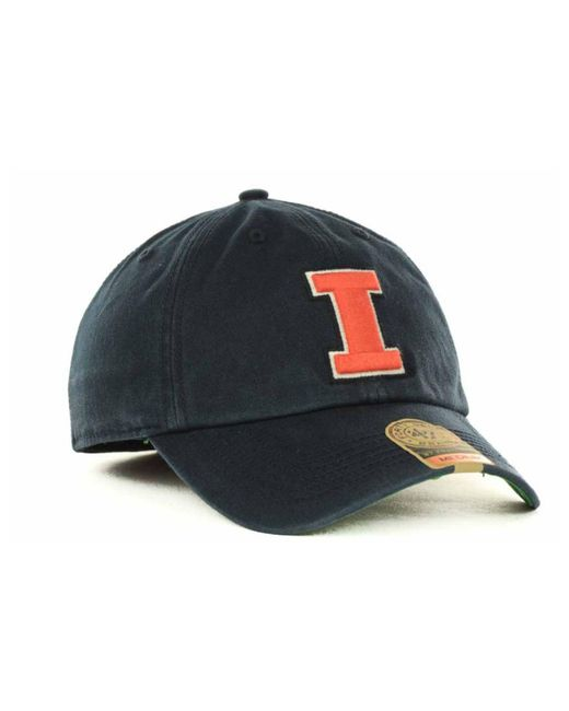 best service 1f93a 75e0f ... 47 Brand - Blue Illinois Fighting Illini Franchise Cap for Men - Lyst  ...