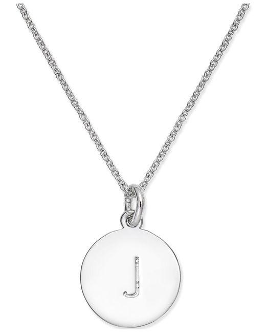 Kate Spade | Metallic Silver-tone Disc Initials Pendant Necklace | Lyst