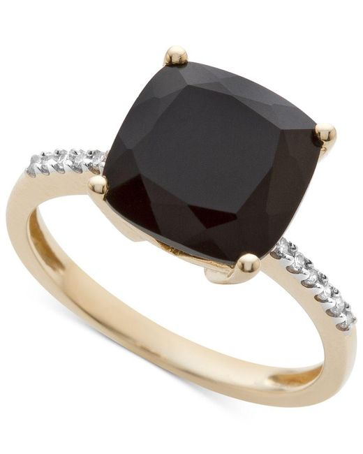 Macy's | Black Onyx (1-1/6 Ct. T.w.) And Diamond Accent Ring In 14k Gold | Lyst