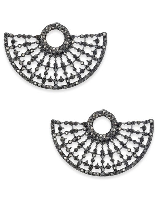 INC International Concepts | Metallic Hematite-tone Gray Pavé Stud Earrings | Lyst