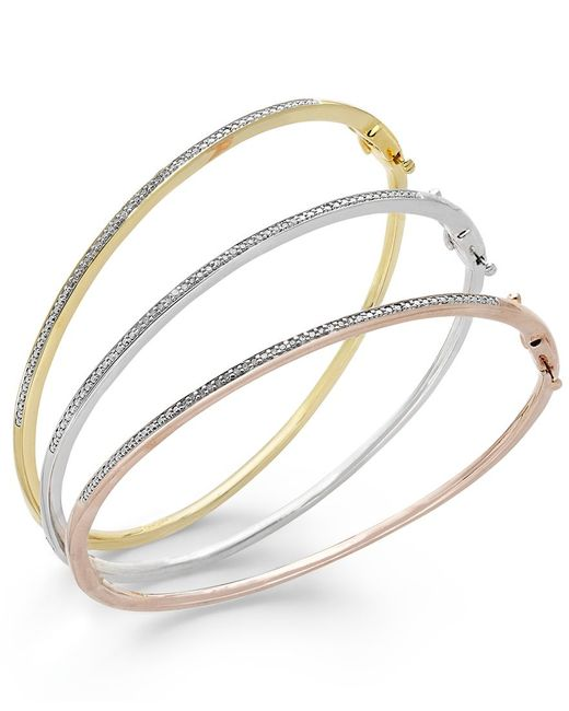 macy s pandora bracelet macy s bangle bracelet trio in 14k gold and 14k 6084