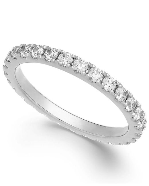 Arabella | Metallic Swarovski Zirconia Infinity Band In 14k White Gold | Lyst