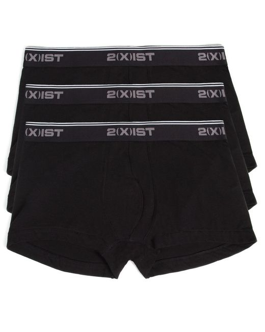 2xist | Black 2(x)ist Men's Cotton Stretch No-show Trunks 3-pack for Men | Lyst