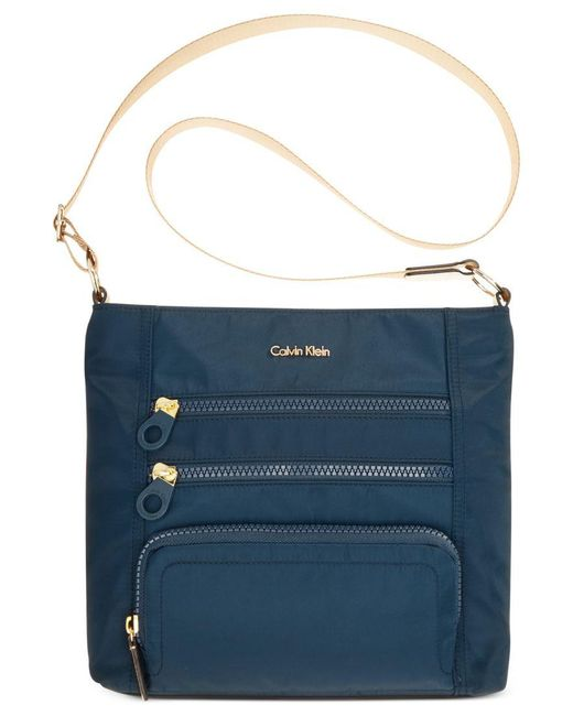Calvin Klein | Blue Nylon Crossbody | Lyst