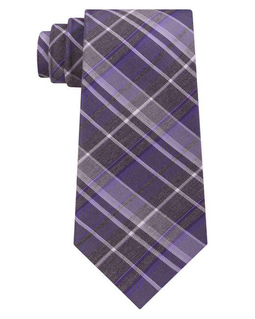 Kenneth Cole Reaction | Purple Men's Plaid Tie for Men | Lyst