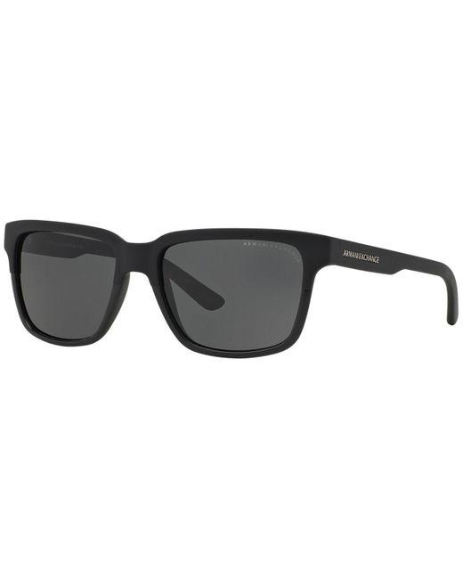 Armani Exchange   Black Sunglasses, Ax Ax4026s 56   Lyst