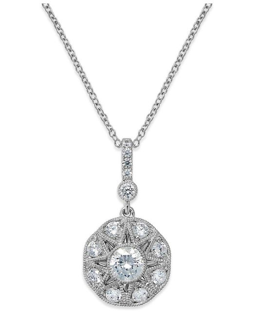Marchesa   Metallic Antique Star By Certified Diamond Icon Pendant Necklace In 18k White Gold (1-3/8 Ct. T.w.)   Lyst