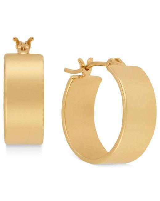 Kenneth Cole - Metallic Earrings, Gold-tone Small Hoop Earrings - Lyst