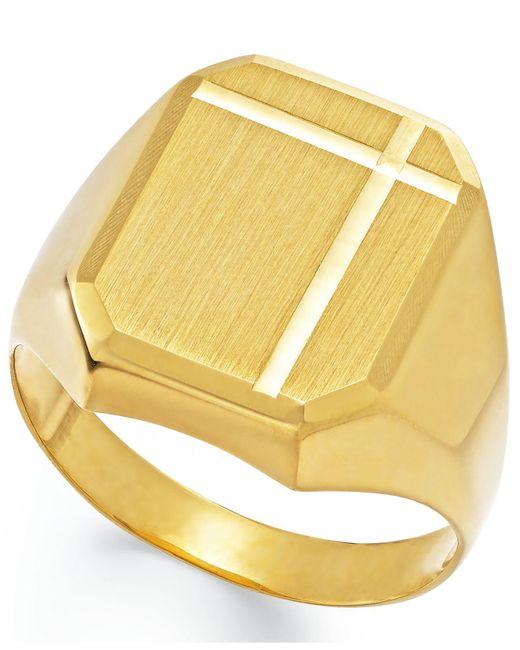 Macy's - Metallic Men's Polished Ring In 14k Gold for Men - Lyst