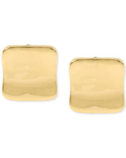 Robert Lee Morris - Metallic Gold-tone Sculptural Square Clip-on Stud Earrings - Lyst