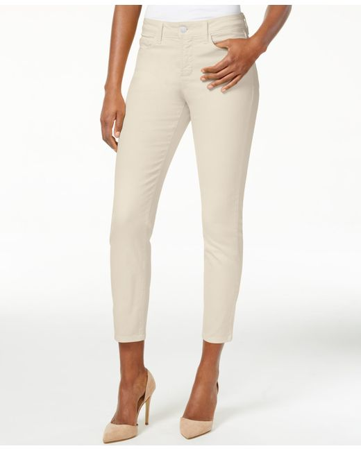 NYDJ | Natural Clarissa Colored Wash Skinny Ankle Jeans | Lyst