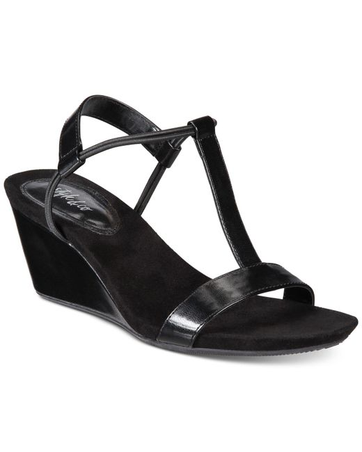 Style & Co. | Black Mulan Wedge Sandals, Only At Macy's | Lyst
