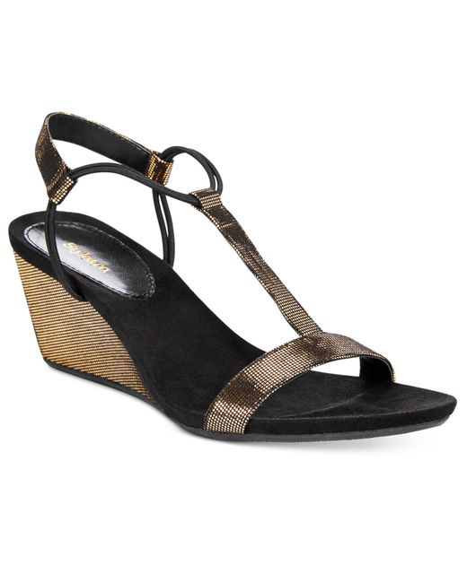 style co mulan wedge sandals only at macy s in gold