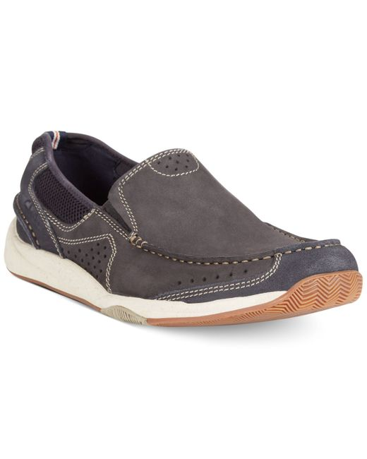 Clarks | Blue Allston Free Slip-on Boat Shoes for Men | Lyst