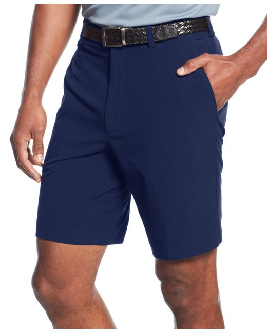Cutter & Buck | Blue Big And Tall Men's Drytec Bainbridge Flat Front Shorts for Men | Lyst