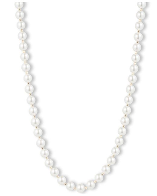 Anne Klein - White Blanc Faux Pearl Collar Necklace - Lyst