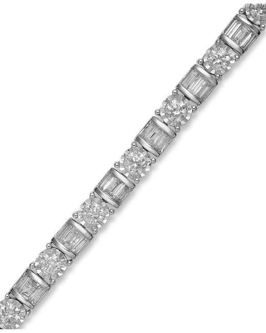 Macy's - Diamond Bracelet In 14k White Gold (5 Ct. T.w.) - Lyst