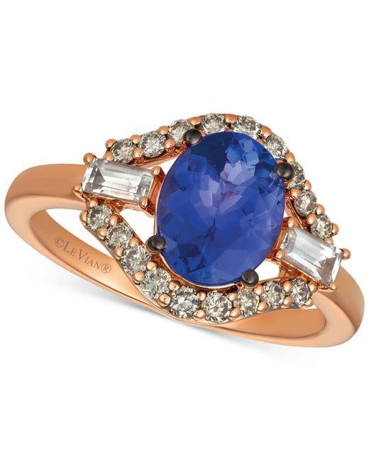 Le Vian - Blue ® Strawberry & Nudetm Multi-gemstone (2 Ct. T.w.) & Diamond (1/3 Ct. T.w.) Ring In 14k Rose Gold - Lyst
