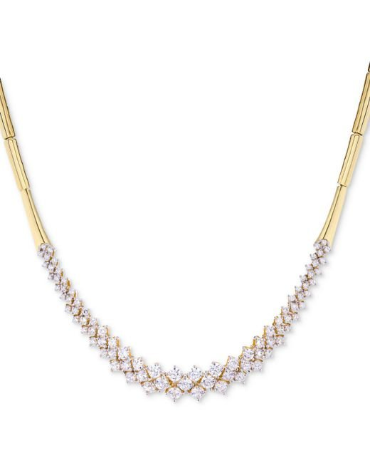 Wrapped in Love - Metallic Diamond Cluster Bar Collar Necklace (3 Ct. T.w.) In 14k Gold - Lyst
