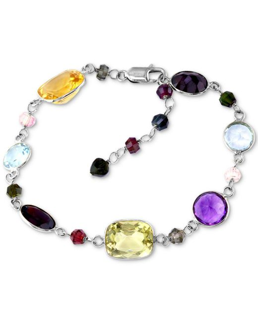 Effy Collection - Multicolor Final Call By Effy® Multi-gemstone Link Bracelet (28-3/4 Ct. T.w.) In 14k White Gold - Lyst