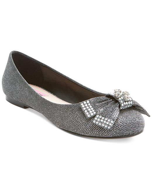 Betsey Johnson - Black Emy Bow Flats - Lyst