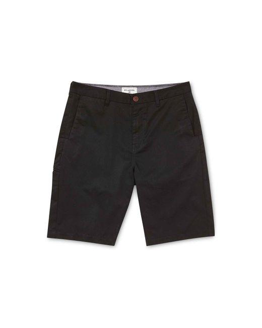 Billabong | Black Men's Carter Cotton Shorts for Men | Lyst