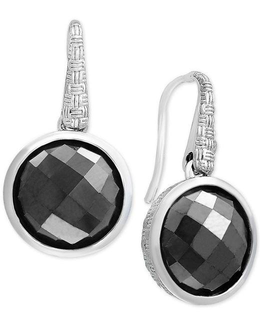 Effy Collection - Metallic Hematite (12mm) Drop Earrings In Sterling Silver - Lyst